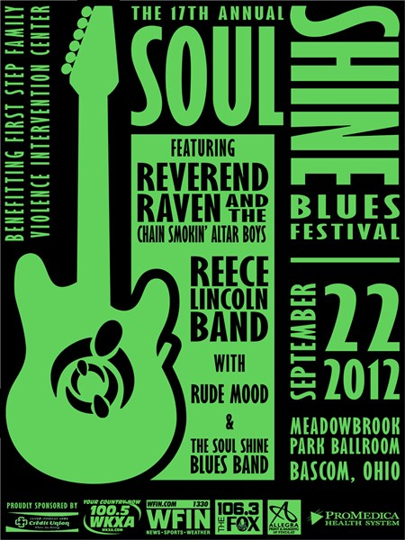 Print Design: Soul Shine Blues Festival 2012