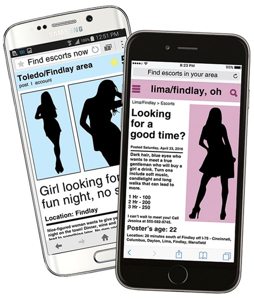 Illustrations: Prostitution goes digital